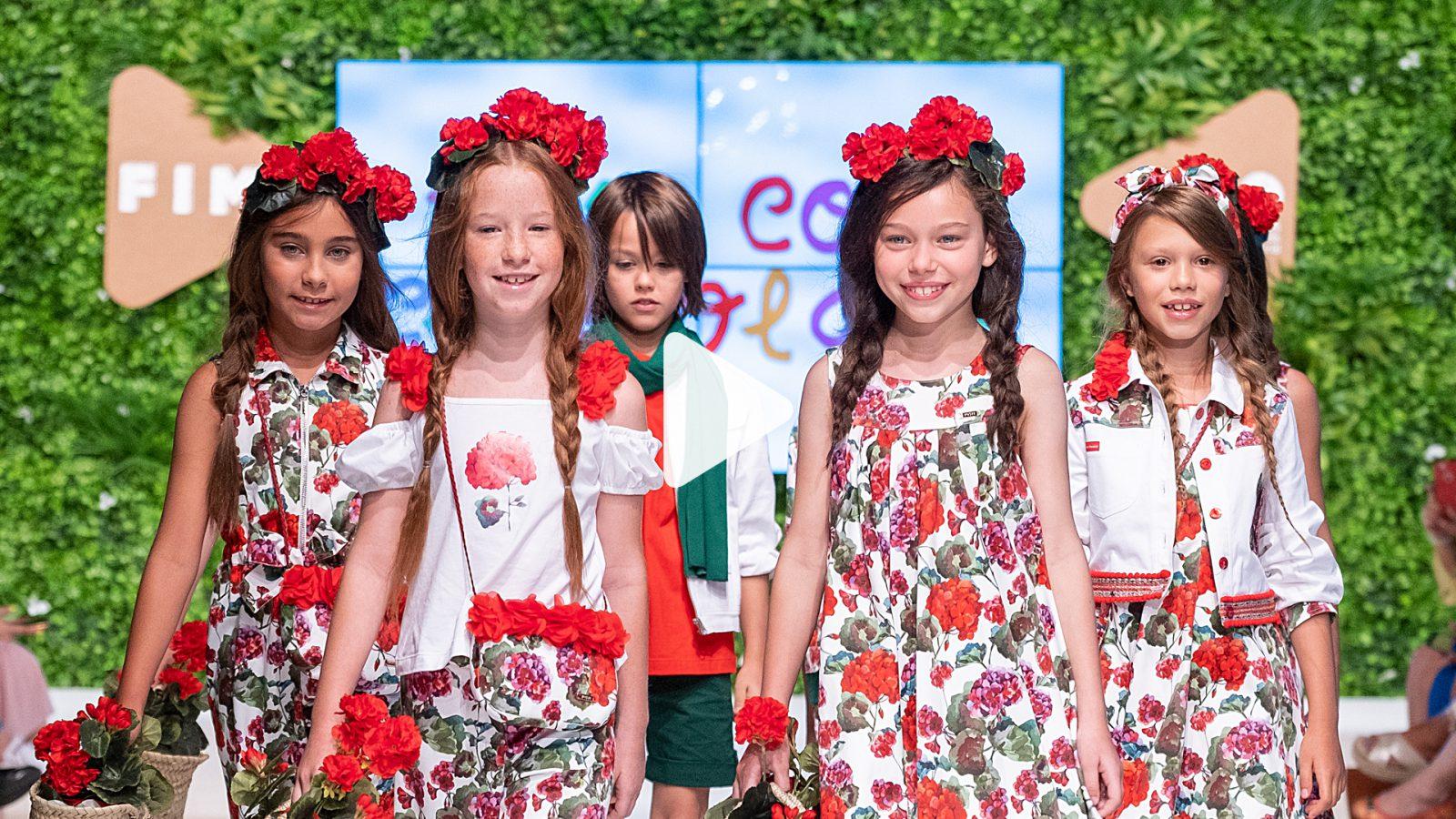 Niños con ropa de Pan con Chocolate, en el desfile de la Feria Internacional de Moda Infantil y Juvenil (FIMI)