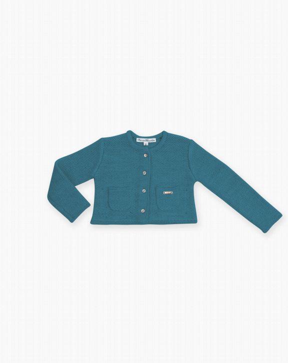 Chaqueta tricot Sofia azul - Pan con Chocolate