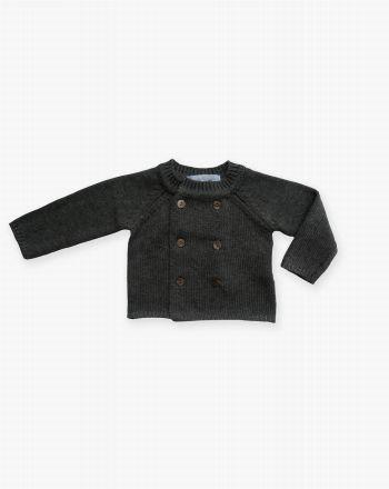 Chaqueta tricot Simon Gris - Pan con Chocolate