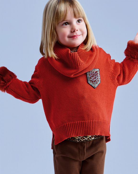 Suéter de punto Sira Teja - Pan con Chocolate
